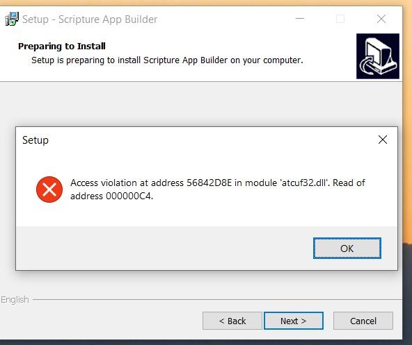 901 sab install error